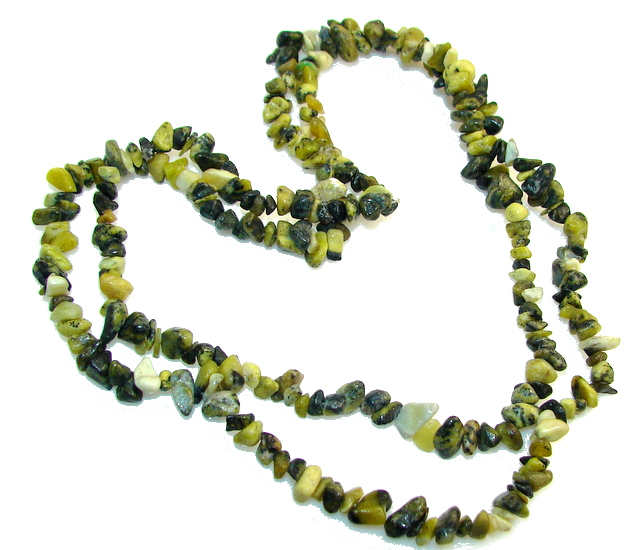 Rare Unusual Natural Aventurine Beads Strand Necklace