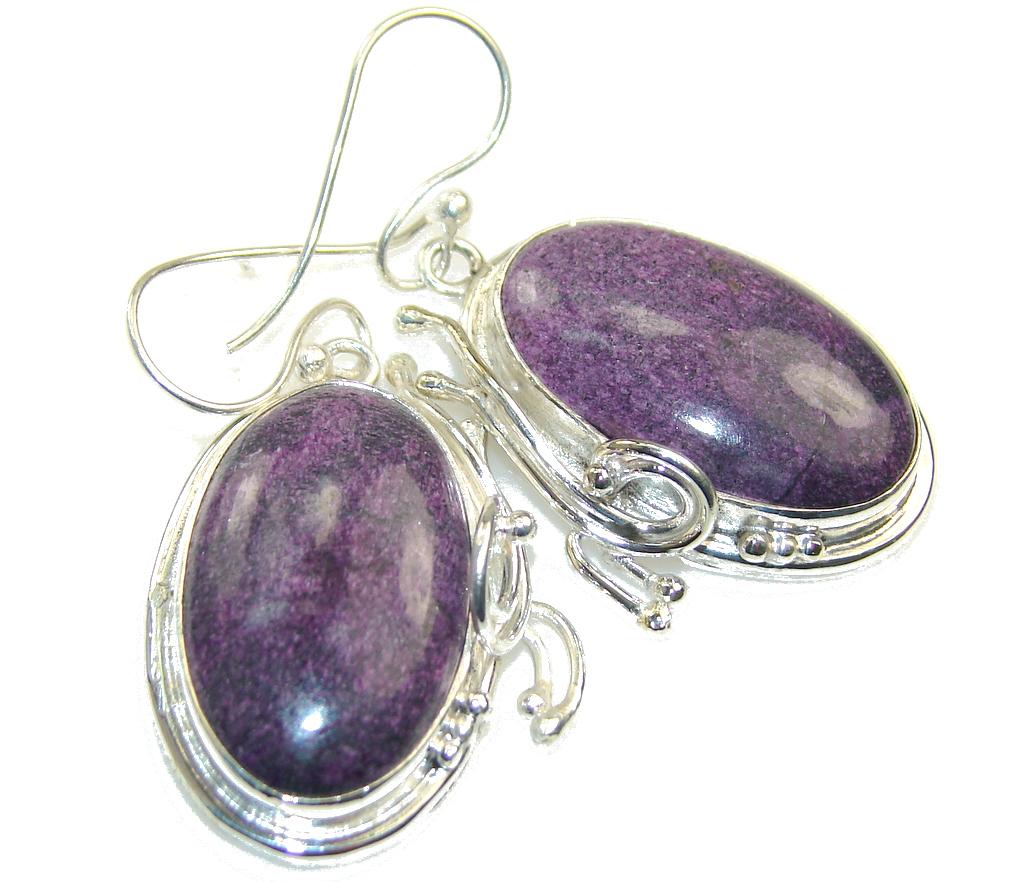 Fabulous Sugalite Silver Sterling earrings