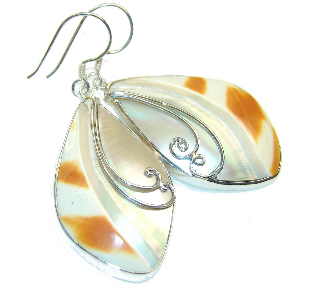Amazing Style! Ocean Shell Sterling Silver earrings