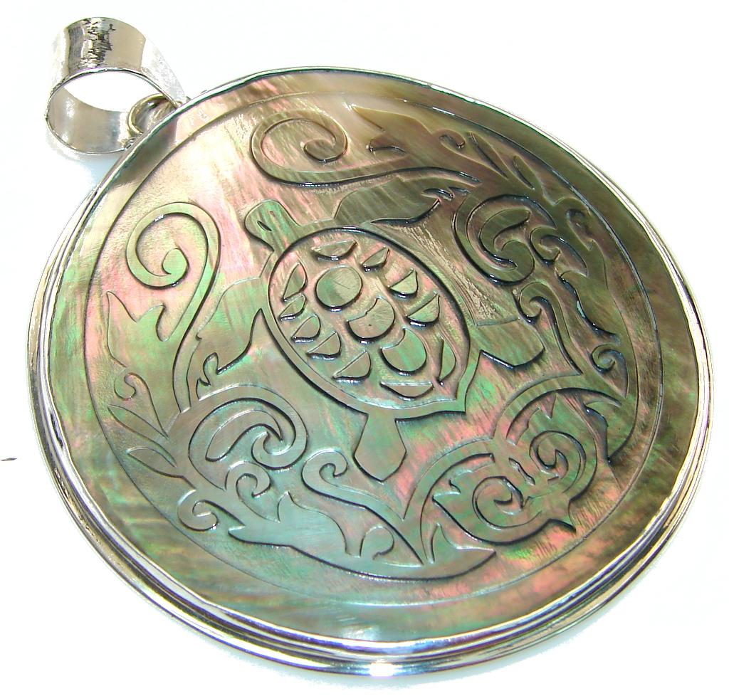 Secret Dynasty Rainbow Abalone Sterling Silver Pendant