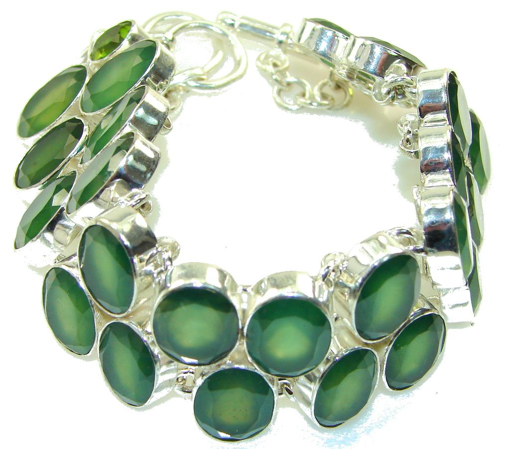 Green Secret!!! Aventurine Sterling Silver Bracelet