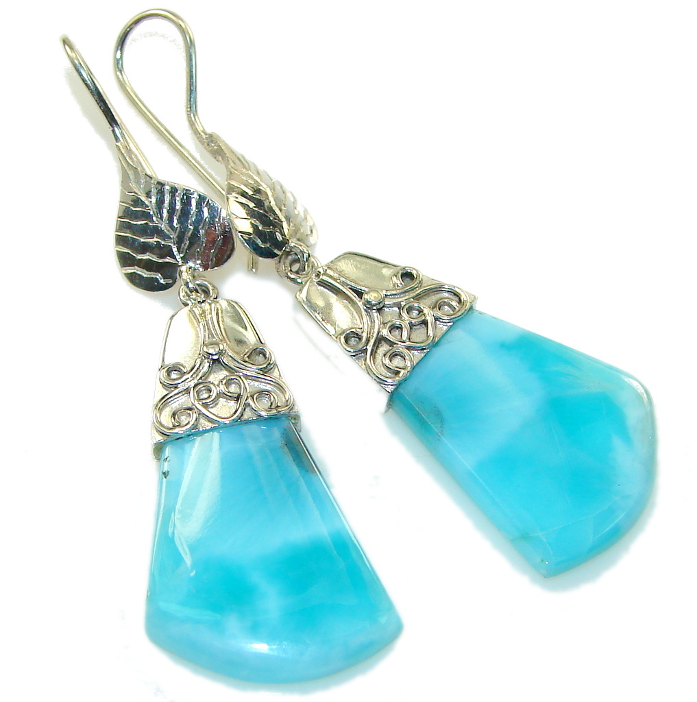 Fashion Light Blue Larimar Sterling Silver earrings