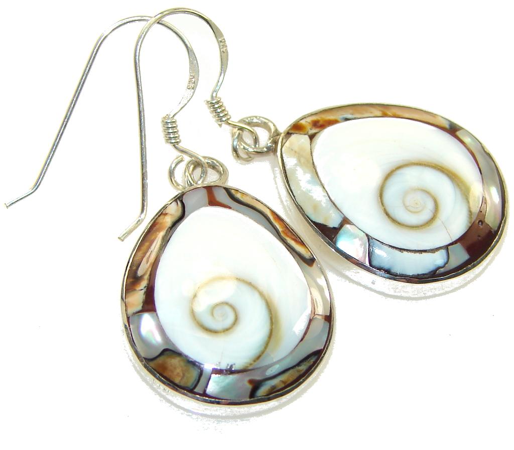 Beautiful Ocean Style White Ocean Shell Sterling Silver earrings