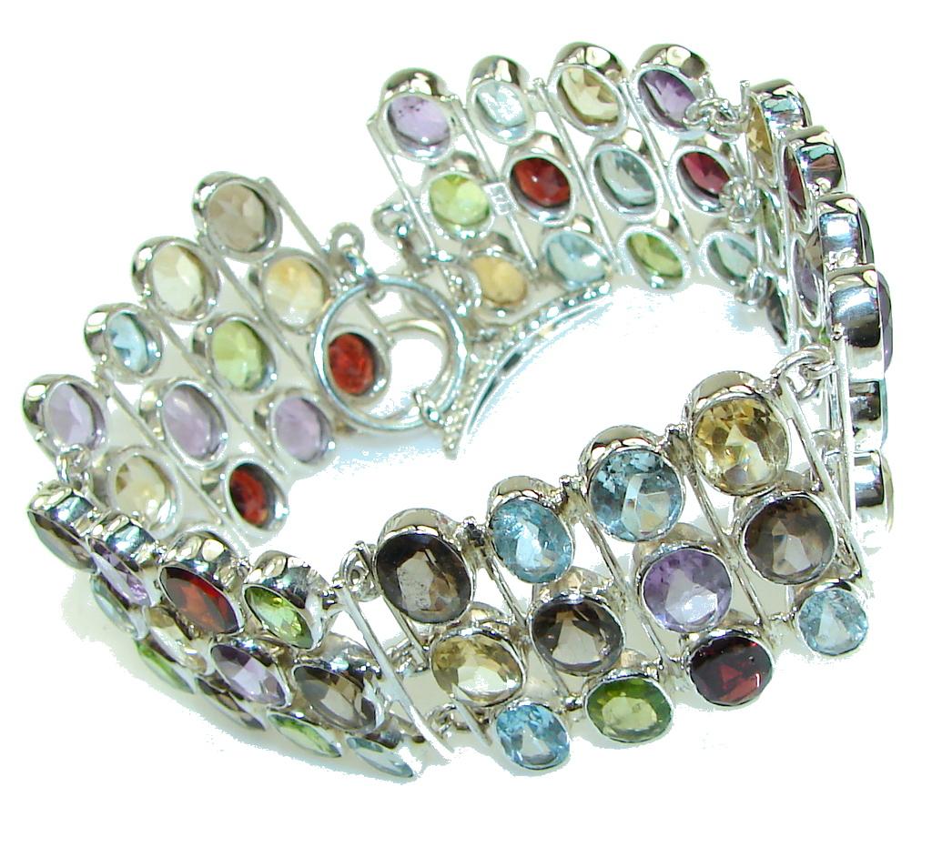 Aura Of Beauty Multigem Sterling Silver Bracelet