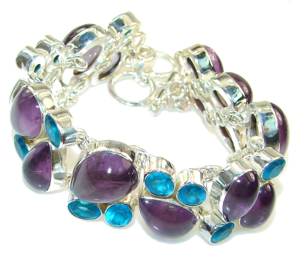 Dainty Daisy!! Purple Amethyst Sterling Silver Bracelet