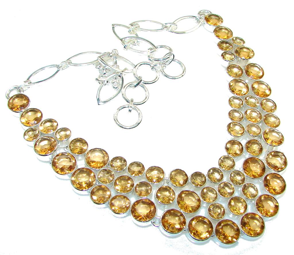 Amazing Best Friend!! Golden Topaz Sterling Silver necklace