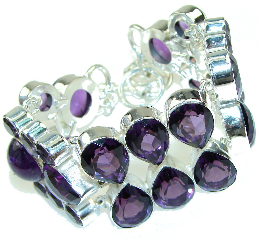 Lavender Dreams!! Amethyst Sterling Silver Bracelet