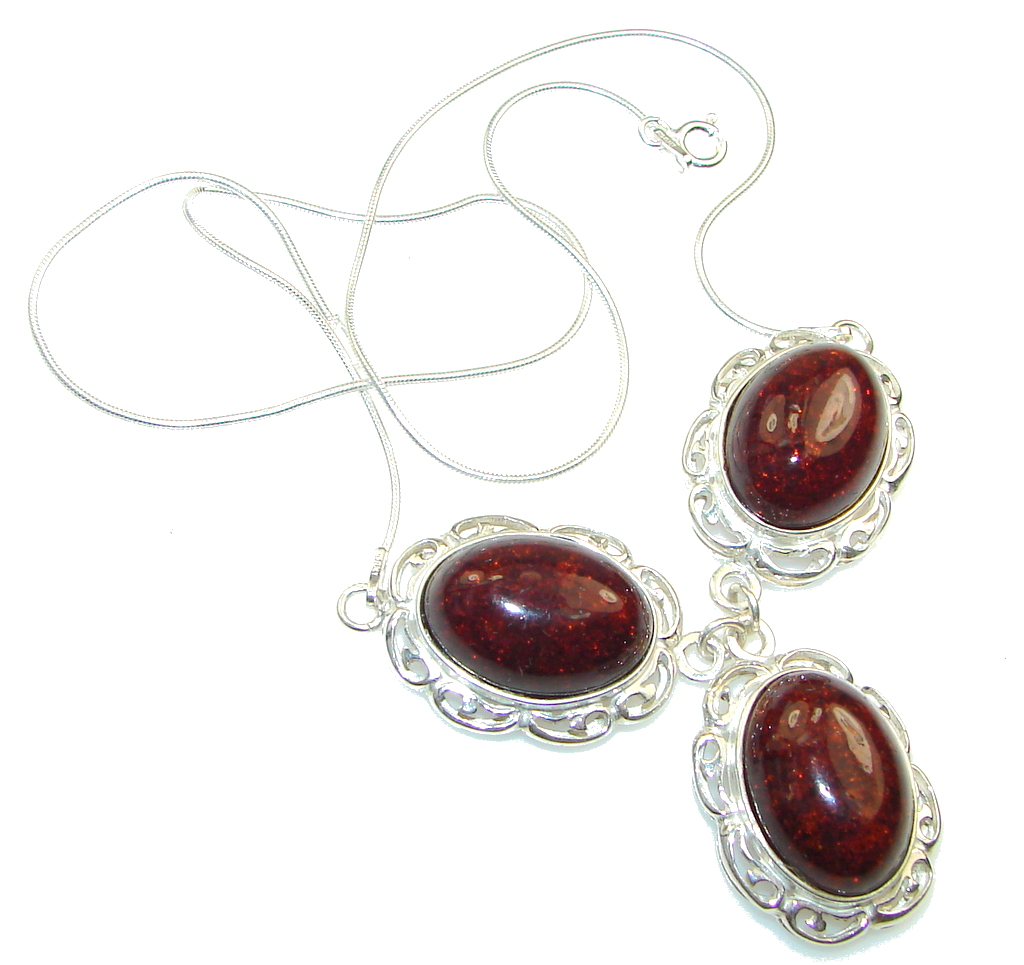 Delicate!! Polish Amber Sterling Silver necklace