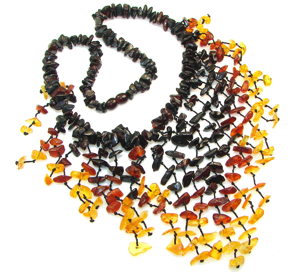 Fashion Design! Polish Amber Necklace