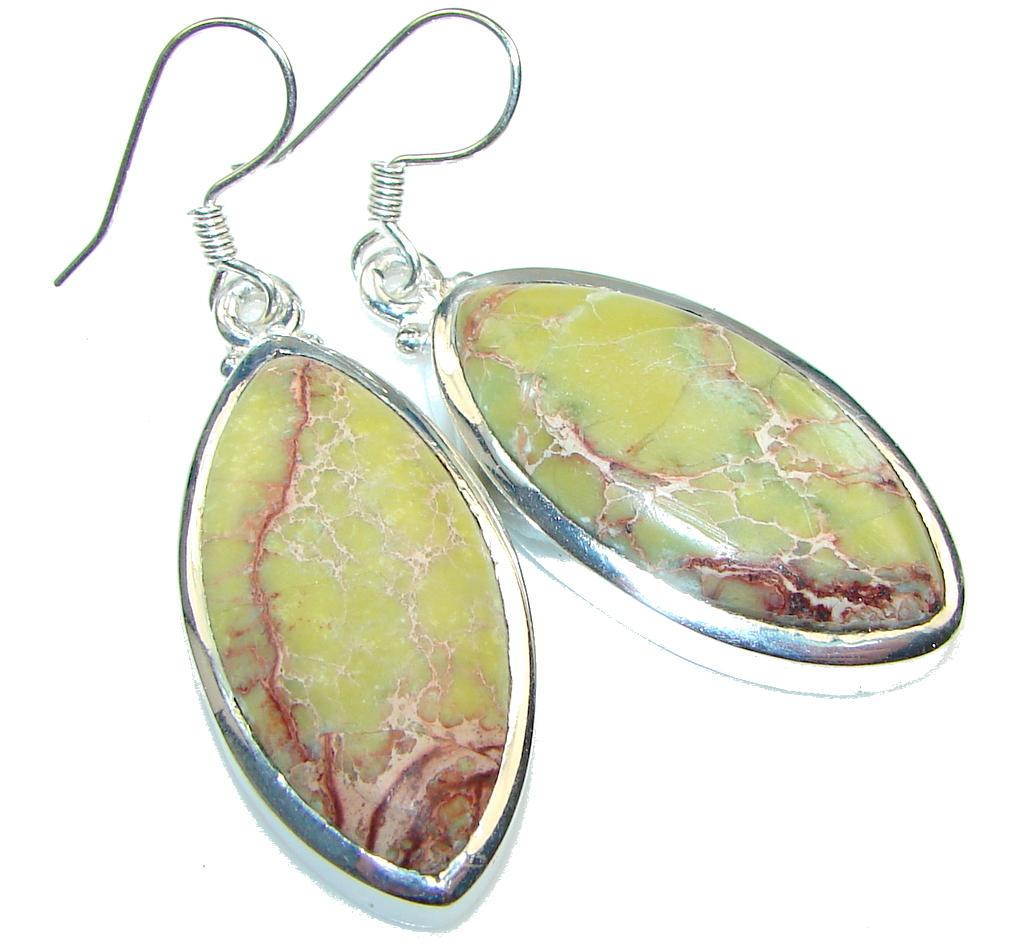 Classy!! Sea Sediment Jasper Sterling Silver earrings