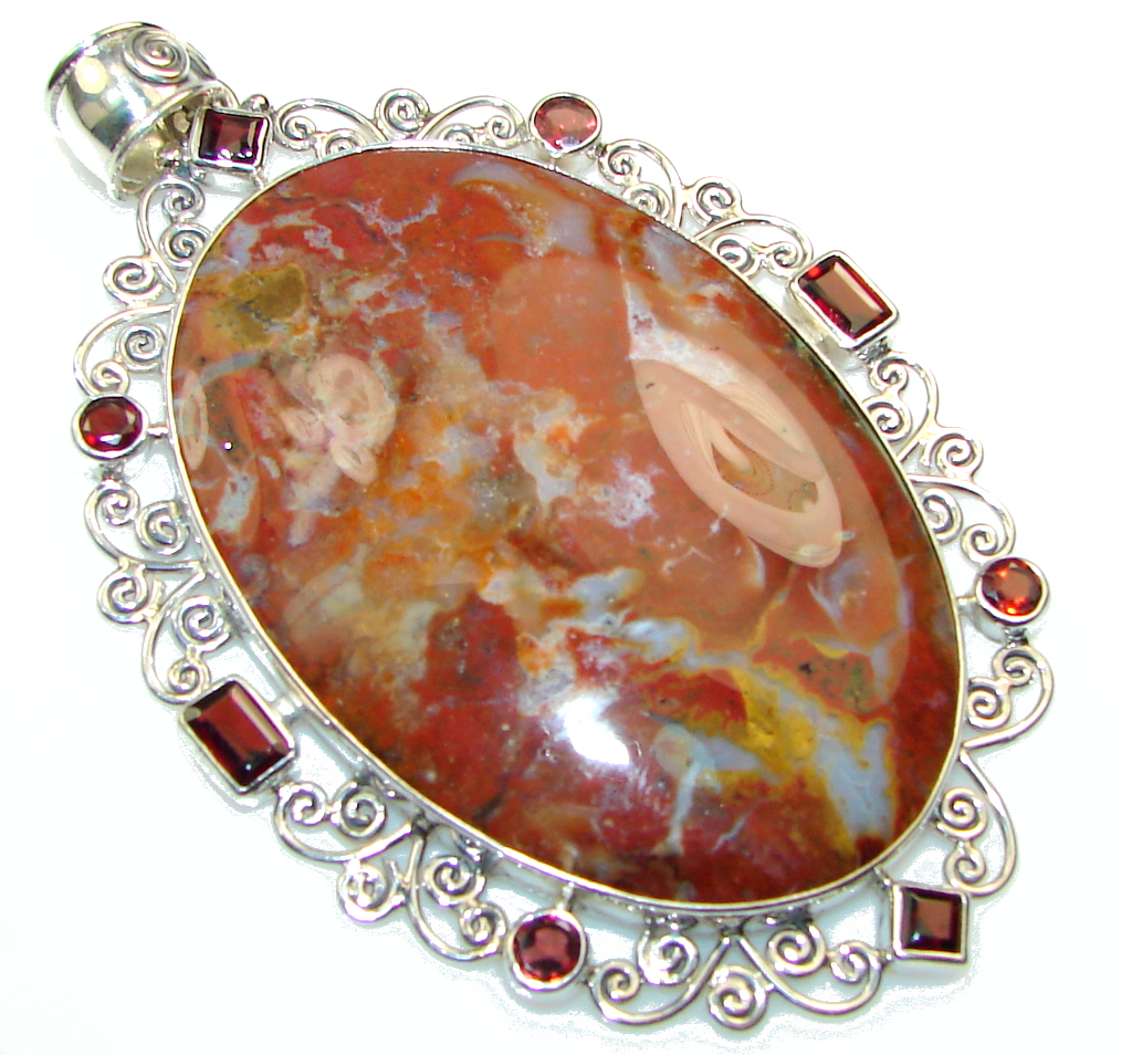 Big! Exclusive AAA Montana Agate Sterling Silver Pendant