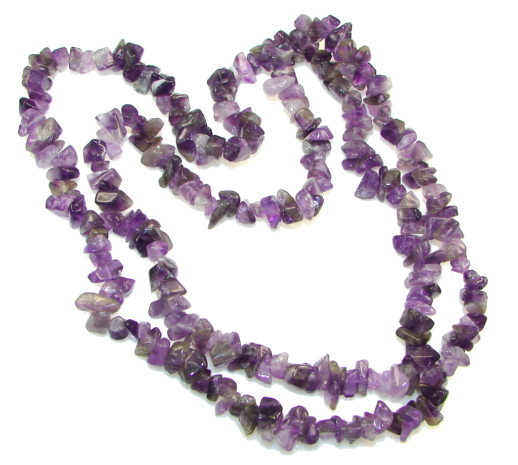 Natural Beauty! Purple Amethyst Necklace