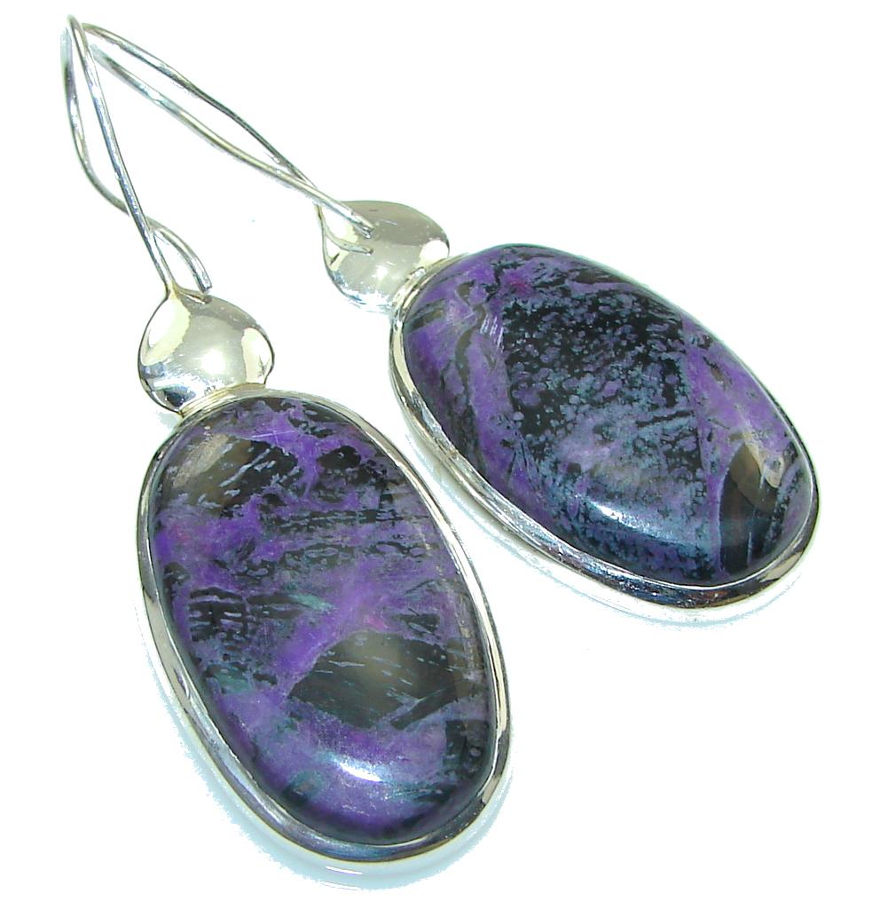 Exclusive! Purple Charoite Sterling Silver earrings