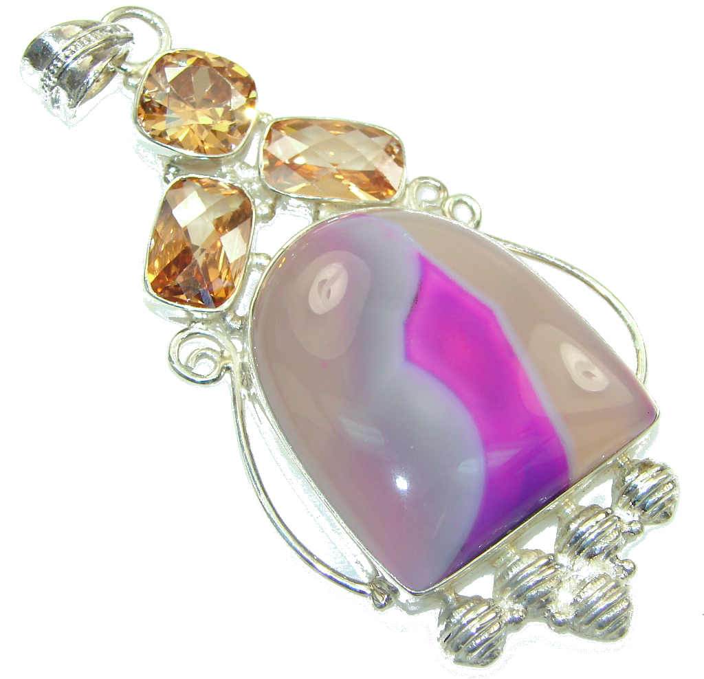 Aura Of Beauty!! Botswana Agate Sterling Silver Pendant