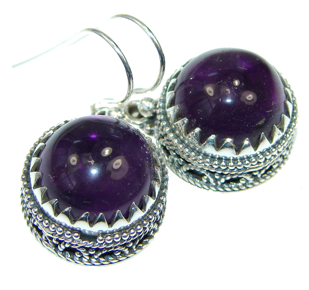 Awesome Purple Amethyst Sterling Silver earrings