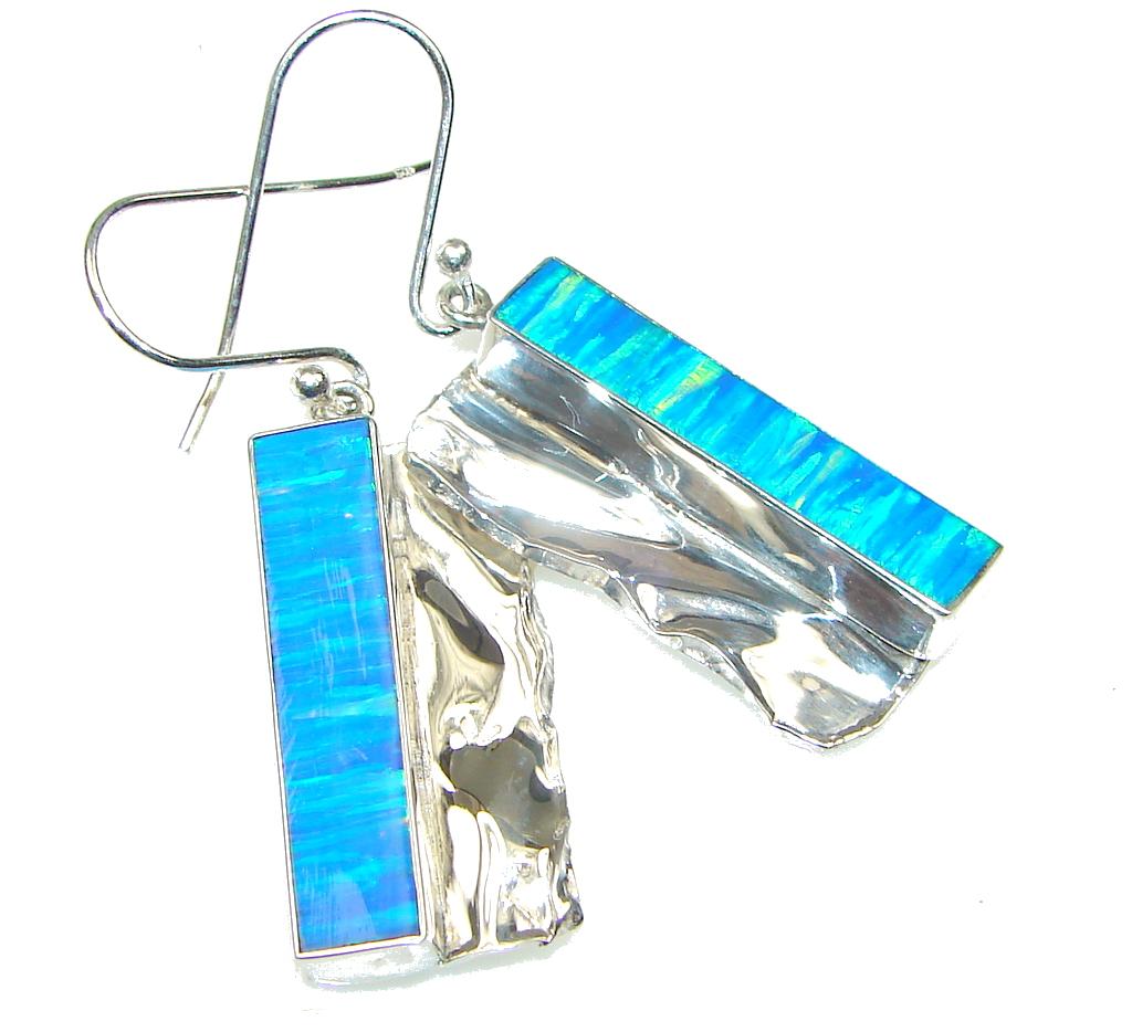 Exotic!!! Japanese Fire Opal Sterling Silver earrings