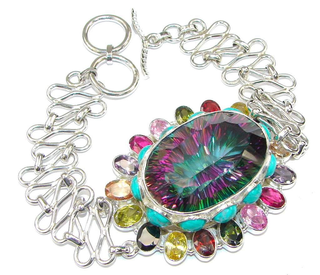 Aura Of Beauty! Magic Topaz Sterling Silver Bracelet