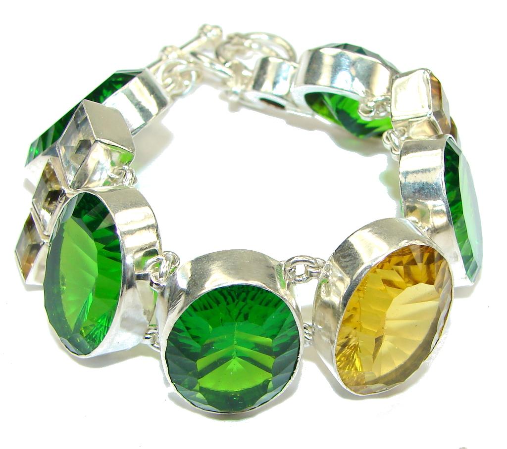Aura Of Beauty! Galaxy Stone Sterling Silver Bracelet
