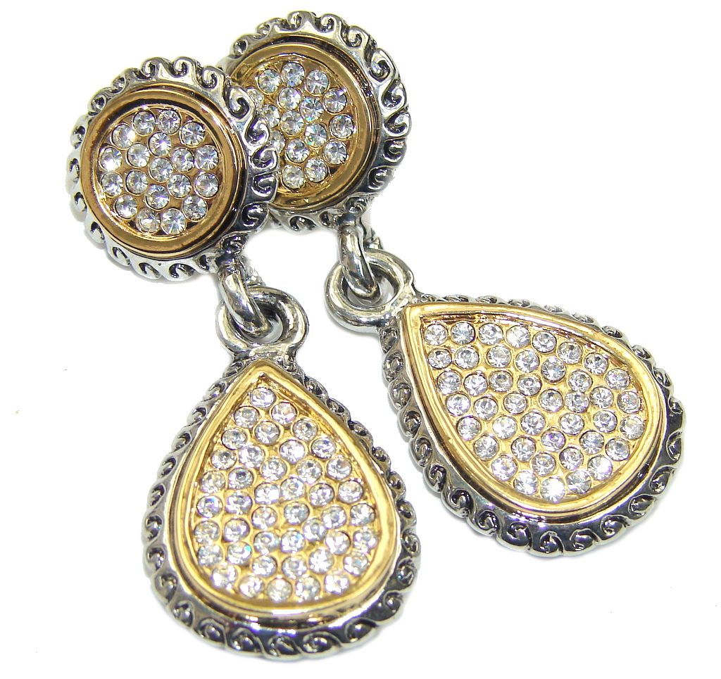 Exclusive! White Topaz Sterling Silver Earrings