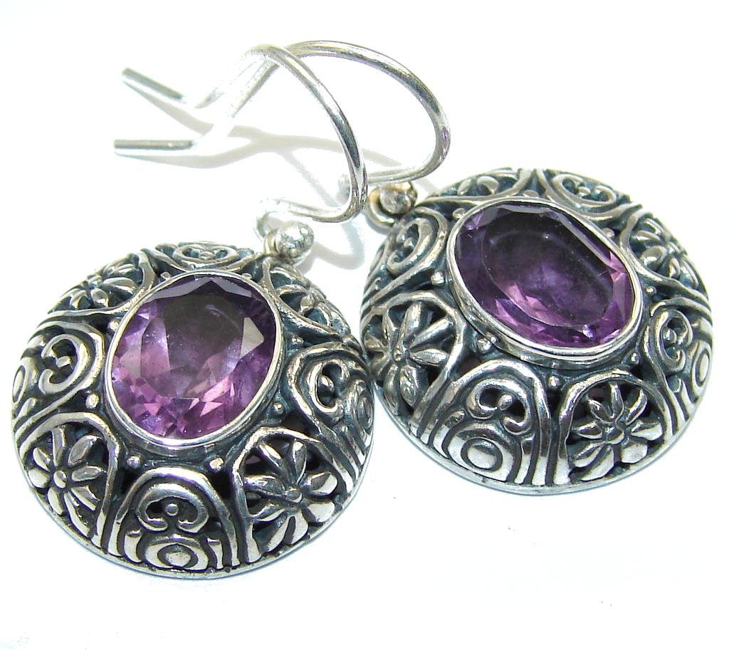 Bali Secret! Purple Amethyst Sterling Silver earrings