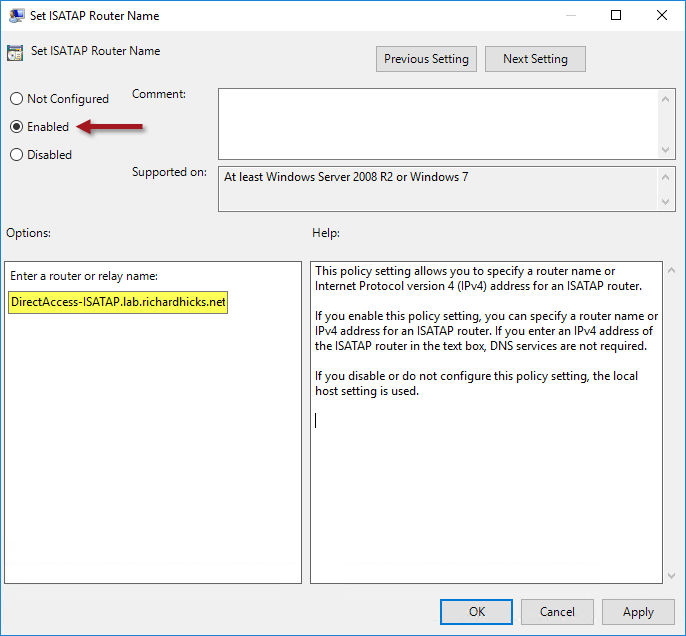 ISATAP Recommendations for DirectAccess Deployments