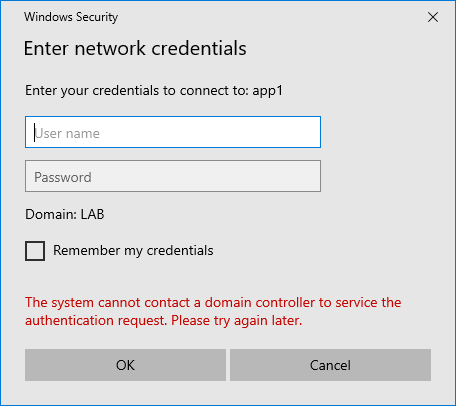 Always On VPN Clients Prompted for Authentication when Accessing Internal Resources