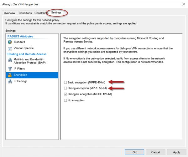 Always On VPN IKEv2 Policy Mismatch Error