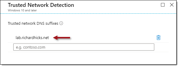 Always On VPN Trusted Network Detection