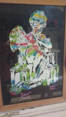 Graff by DNT framed in local beach wood.