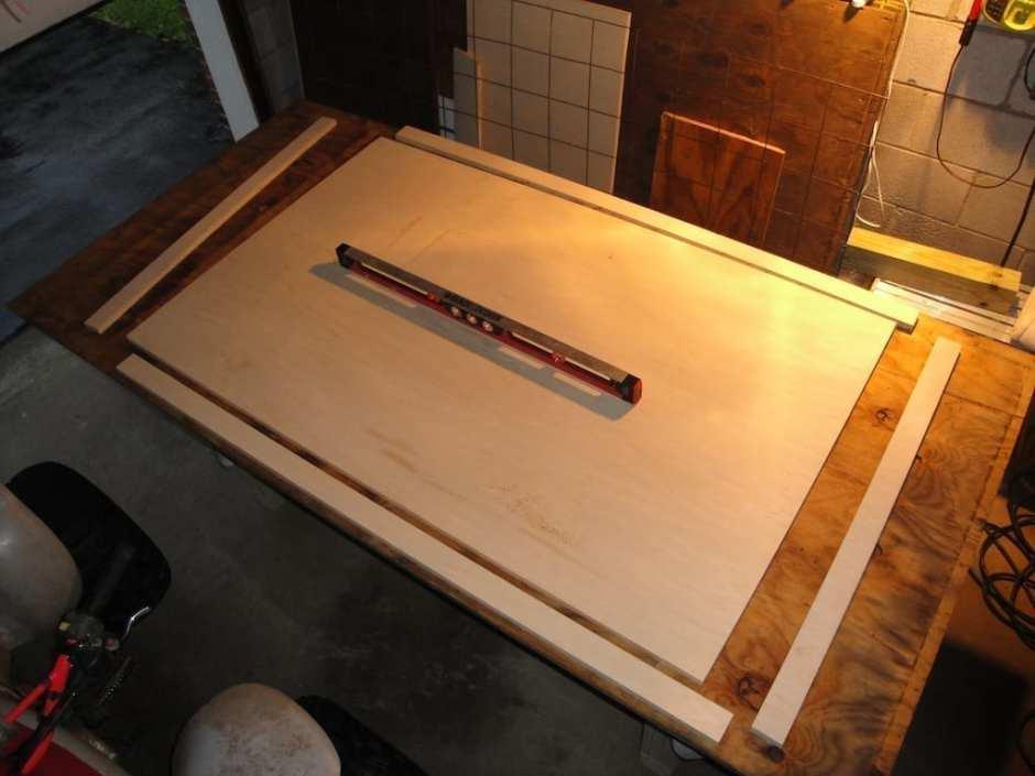 Concrete Table Melamine Form Construction