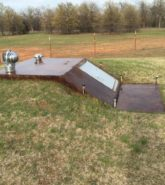 Acid Stained Concrete Shelter