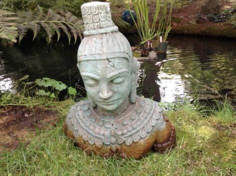 Acid Stained Concrete Buddha