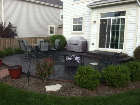 Charcoal Antiquing Concrete Stain Patio