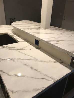 Marble Metallic Epoxy Countertop