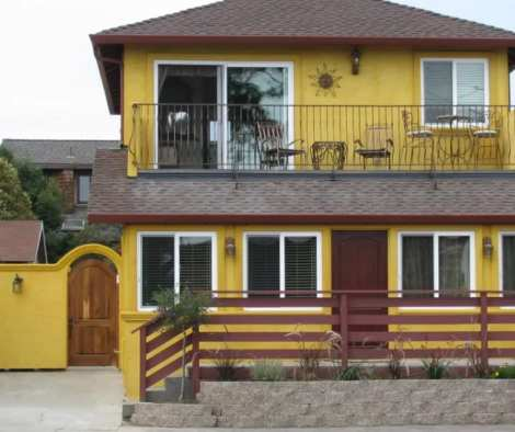 Renovated Beach House with Integral Pigment Colored Stucco