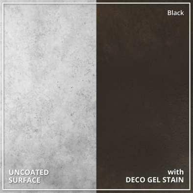 Uncoated Concrete vs Deco Gel Acid Stain