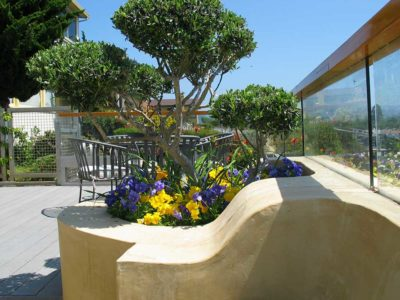 Integral Color Outdoor Concrete Patio by Steve Sutherland Design