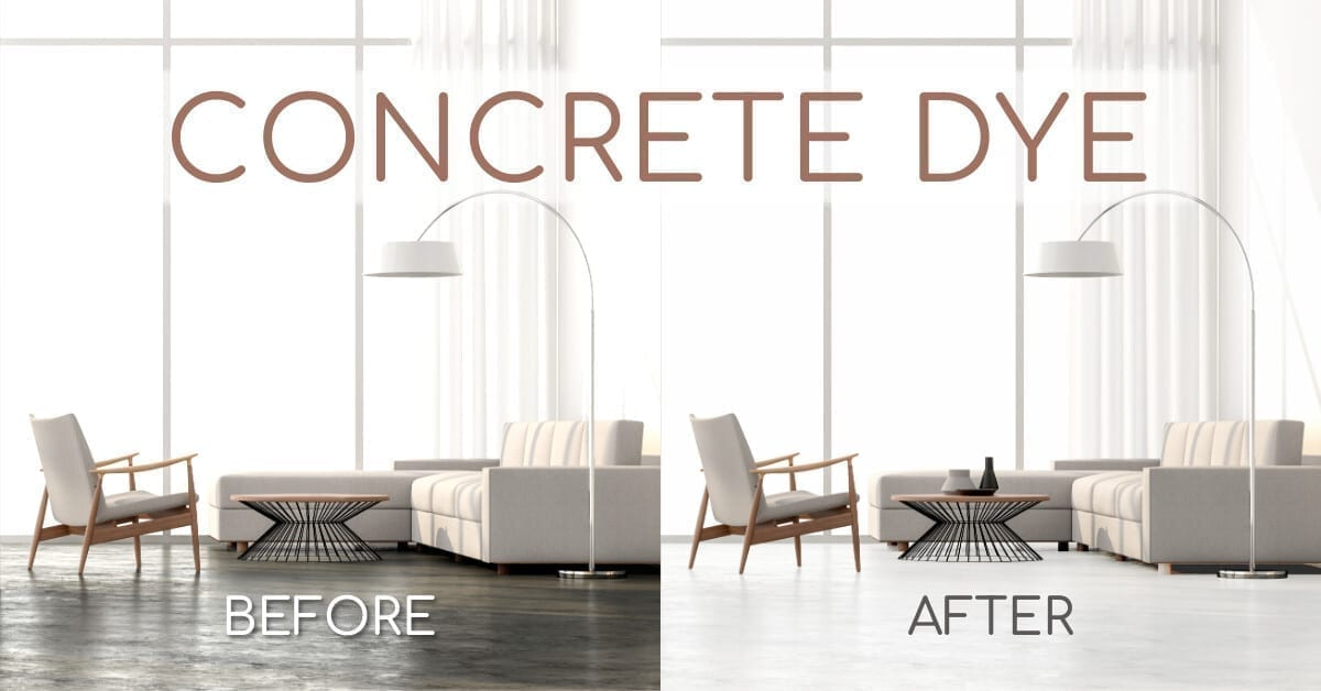 Concrete Dye Before and After Photo