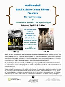 NMBCC Library April 23, 2016 film screening