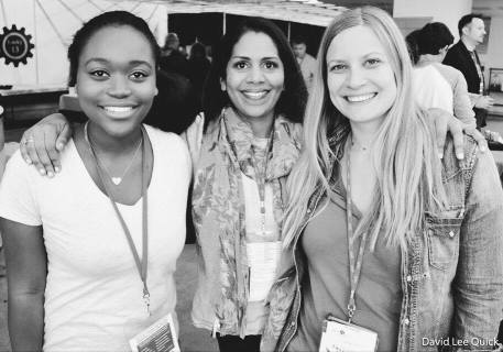 Kate Gondwe with the executive director and current creative director of the Tallgrass Film Festival and producer Brooke Russell