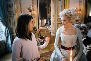 Sofia Coppola directing Kirsten Dunst on the set of Marie Antoinette