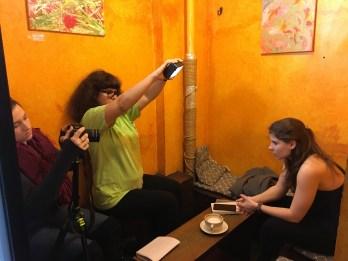 Left: Jessica Fornear, Centre: Diana Foronda, Right: Fay Koulouri