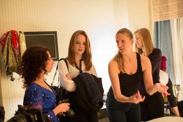 Caryn Waechter directing a scene