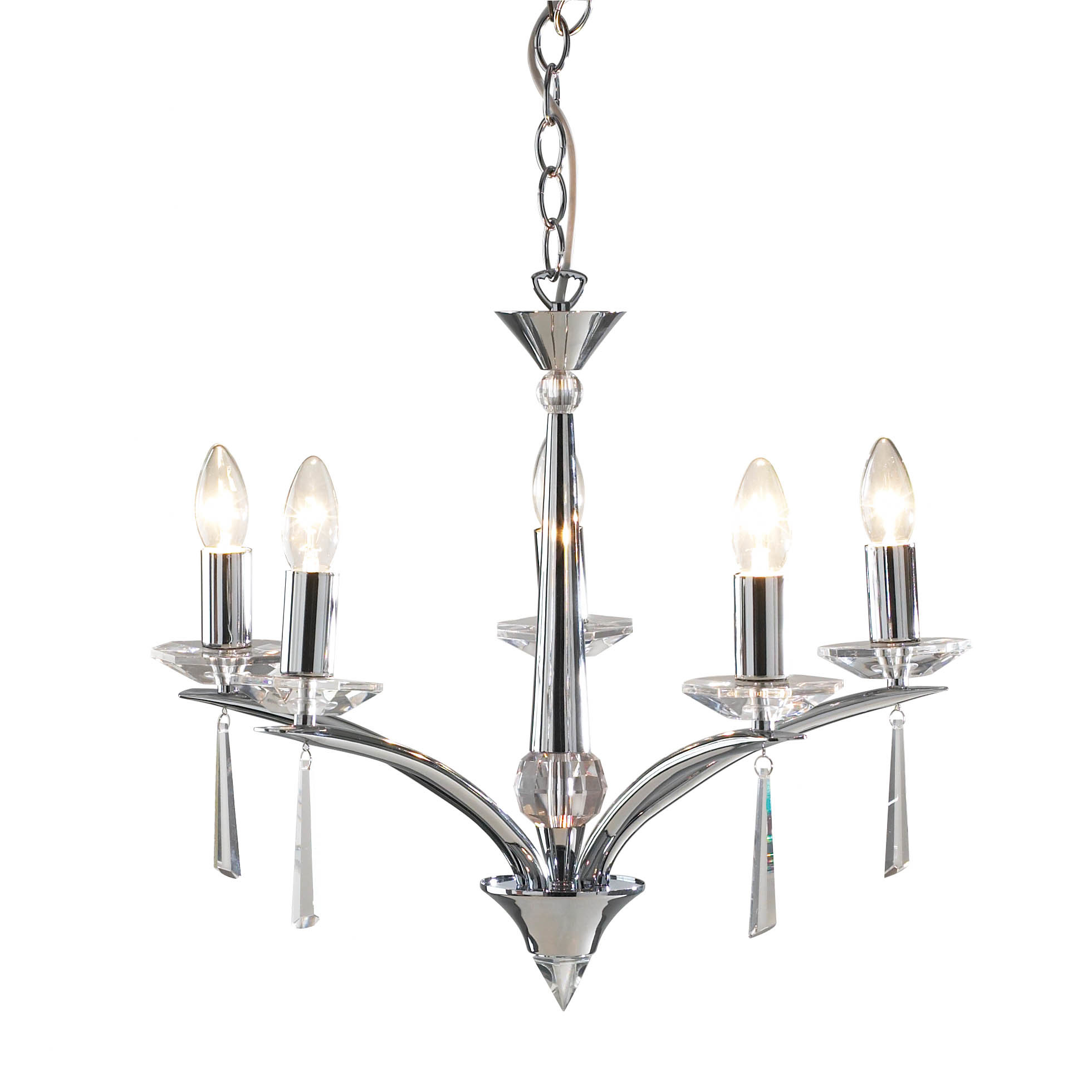 Dar Lighting Hyperion 5 Light Candle Chandelier