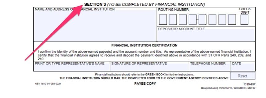 """Social Security Direct Deposit Form Instructions"""