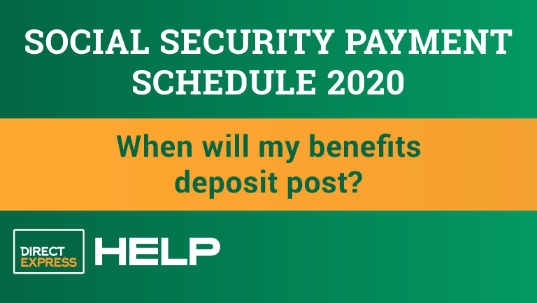 """The 2020 Social Security Payment Schedule"""
