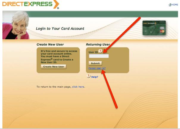"""Direct Express Address Change"""