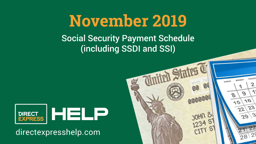 """November 2019 Social Security Payment Schedule"""