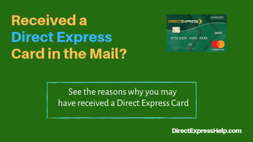 """direct express card in the mail"""