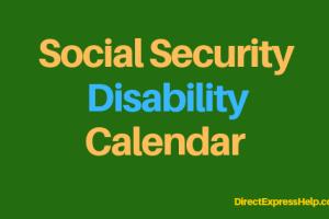 """Social Security Disability Calendar"""